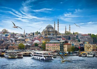 Croisière en Méditerranée, port d'Istambul